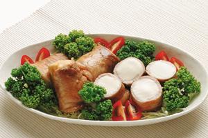 豚肉の豆腐巻き