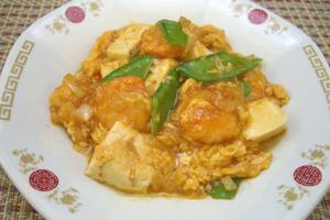 エビチリ卵豆腐
