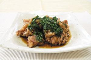 豚肉の生姜揚げにらポン酢