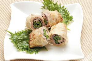 さやいんげんと豚肉の天ぷら