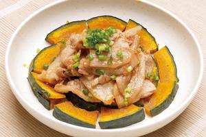 豚肉とかぼちゃの中華風蒸し