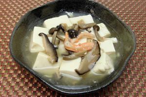 カニと豆腐のあんかけスープ