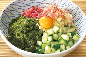めかぶと香味野菜の和え物