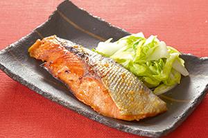 鮭の辛子焼き