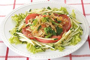 中華くらげの菜の花サラダ