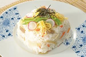 さっぱり生姜の五目ちらし寿司